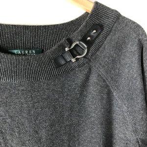 Lauren Ralph Lauren Scoop Neck Gray Sweater